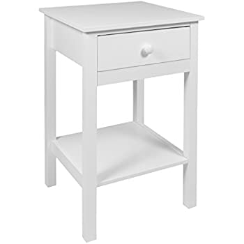 Woodluv Bedside Drawer with Shelf Cabinet Side Table Storage Unit ...