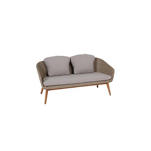 greemotion 128637 Rattan Lounge Sitzgruppe MURCIA-Loungemöbel Set 4-teilig für Garten & Terrasse...