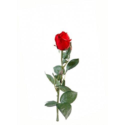 fleur coupee synthetique rose joey bouton ferme - h : 67