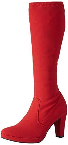 Andrea Conti1124170 - Stivali alti non imbottiti Donna , Rosso (Rot (rot 021)), 37