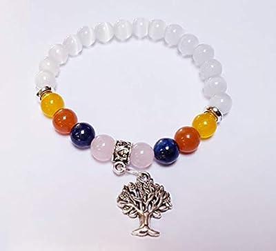 Bracelet Ménopause, pierres naturelles, lithothérapie, fait main