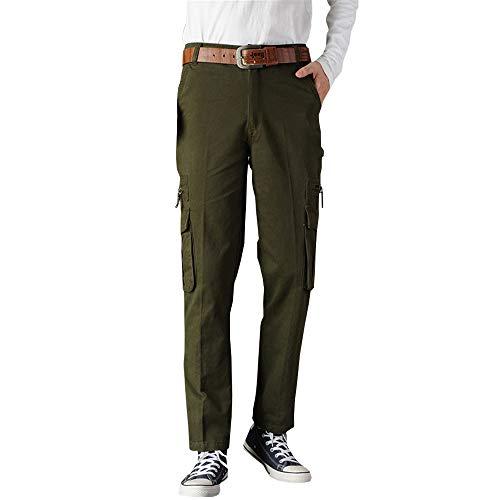 ZEVONDA Männer Kampfhosen - Pantalones Deportivos al Aire Libre Pantalones Militares Pantalones de Trabajo,Grün,Tag 40,Taille 106cm