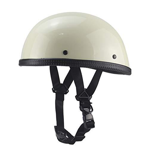 Sommer Harley Motorradhelm, Retro japanischen EE Half Helm, ATV Roller Helm Fahrradhelm (weiß),L