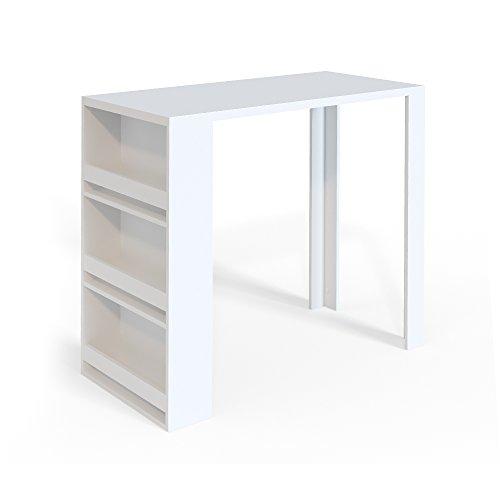 Vicco Bartisch Bar Weiß Tresen Bartresen Stehtisch Tisch Tresentisch Bistrotisch Küche Mir 3 Extra Fächern