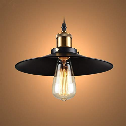 Chandelier de grenier de restaurant de lustre vintage E27 LED lustre industriel de couverture de la casserole (Size : Diameter 36cm)