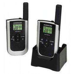 Preisvergleich Produktbild Audioline SLIM-PMR 30 Sprechfunkgerät in modernem Flachdesign (nur 14mm flach!)