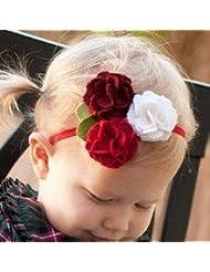 Style Nuvo - Bandeau Fleur Rose Feutre Bébé