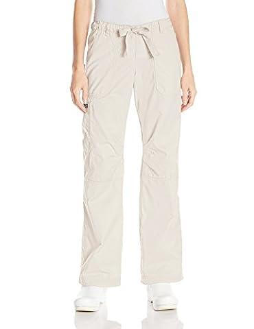 Koi Women's Lindsey Cargo Scrub Pant - beige -