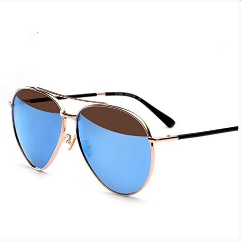 LZHTC Sonnenbrille Weibliches Rundes Gesicht Retro Polarisierte Brille Sonnenbrille Männlicher Fahrerspiegel