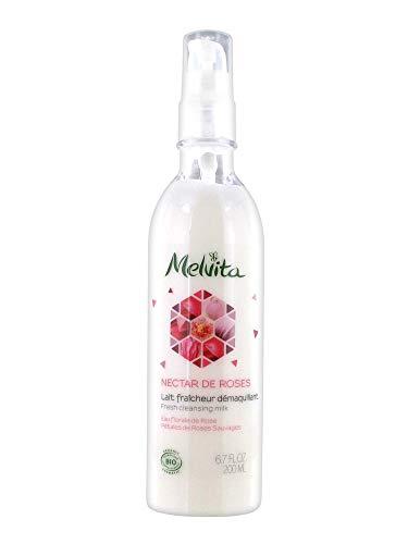 Melvita Nectar de Roses Lait Fraîcheur Démaquillant 200 ml