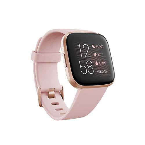 Imagen de fitbit versa 2  smartwatch de salud y forma física, rosa pétalo/rosa cobrizo