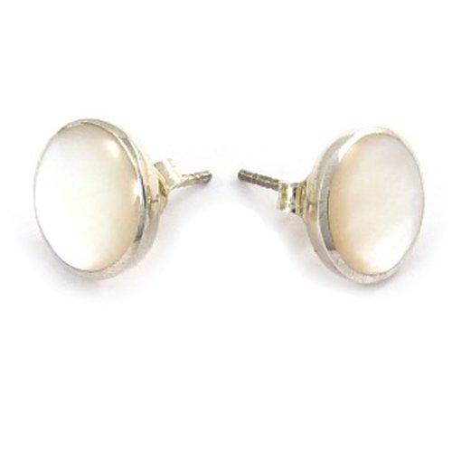 plata-pendientes-rond-zen-de-color-blanco-nacarados