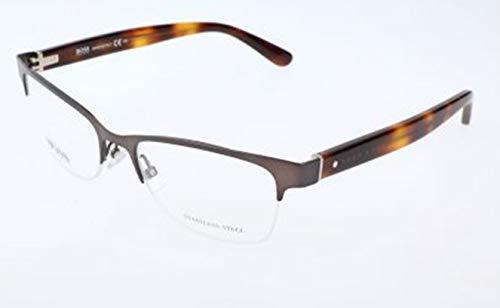 BOSS Hugo Herren Hugo Orange Brille Brillengestelle, Grau, 52