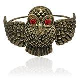 Special Vintage Owl Gold Tone Bangle Bracelet