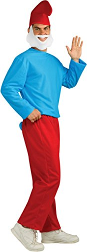 Erwachsenen Papa Schlumpf Kostüm (Kostüme Papa Erwachsenen Schlumpf)
