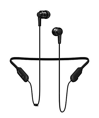 Pioneer SE-C7BT(B) Hifi In-Ear Headphones (Aluminium body, Control panel, Microphone, Bluetooth, NFC, 7 hour playback, lightweight, compact and convenient, for iPhone, Android Smartphones), Black