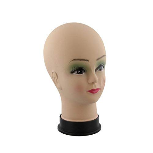 FitYo Présentoir Tête maquillé pour Perruques, Lunettes, Foulards, Chapeaux, Coiffeur etc. PTET1