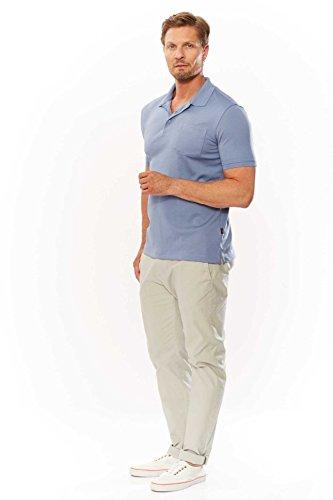 Kitaro Herren Shirt Poloshirt BASIC Blau