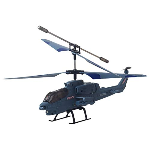 Sixcup Helicopter Funkfernsteuerung Modell Military Simulation Fighter Kampfhubschrauber Hubschrauber Electric Airplane Toy Outdoor fur Kids (B)