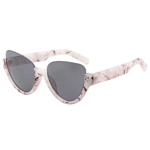 LianSan Einzigartige Aviator Sonnenbrille, halber Rahmen UV-Schutz Brillen ls4703grau