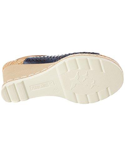 Pikolinos Damen Bali W3l_v17 Offene Sandalen mit Keilabsatz Blau