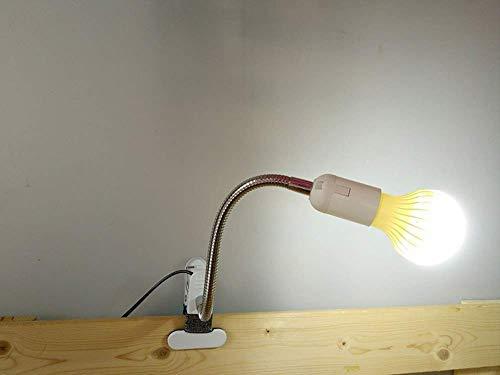 haltsschreibtischlampe, Clip Creative Dormitory College Tischlampe Augenschutz Nachttischlampe Leselampe Schlafzimmerlampe Leselampe Make-Up Lampe Langer Arm kann frei gebogen wer ()