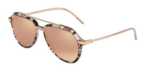 Dolce Gabbana DG4330 Sunglasses, Brown/Pink Havana, 45mm