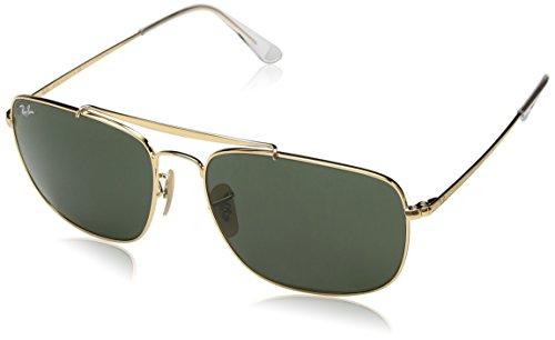 Ray-Ban Herren 0RB3560 001 61 Sonnenbrille, Gold/Green