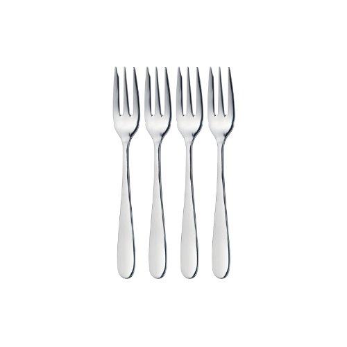 MasterClass Kitchen Craft Cake Fork Set, Silver, 4-Piece