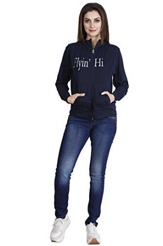 Acteve Blue Fleece jacket with zip for women