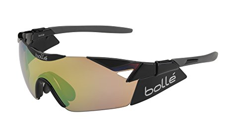 bollé Erwachsene 6th Sense Sonnenbrille, Shiny Black, Small