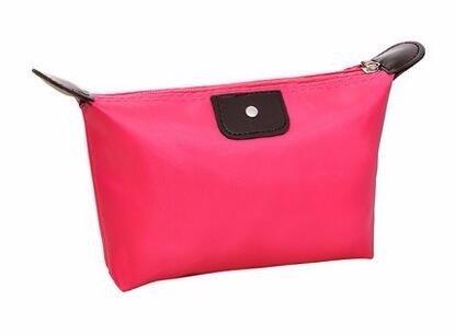 KAFEI Sac cosmétique couleur bonbon portable quenelles petit mignon incorporé,rose red