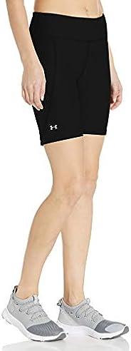 Under Armour Women's HeatGear Armour Bike Shorts, Black (001)/Metallic Silver, X-L