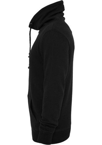 Urban Classics Melange High Neck Knitted Crew Swea Black