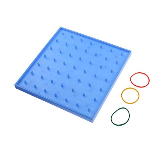 Nichino Plastic Nail Plate Primary Mathematics Nailboard Puzzle Game Tool Geometry Learning Educational Toy for Children