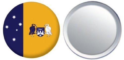 Miroir insigne de bouton Australie ACT drapeau - 58mm