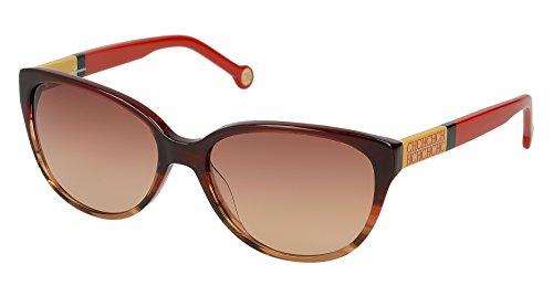 Carolina herrera she572570acl, occhiali da sole donna, rosso (rojo), 57