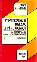 10 textes expliqués, Balzac,
