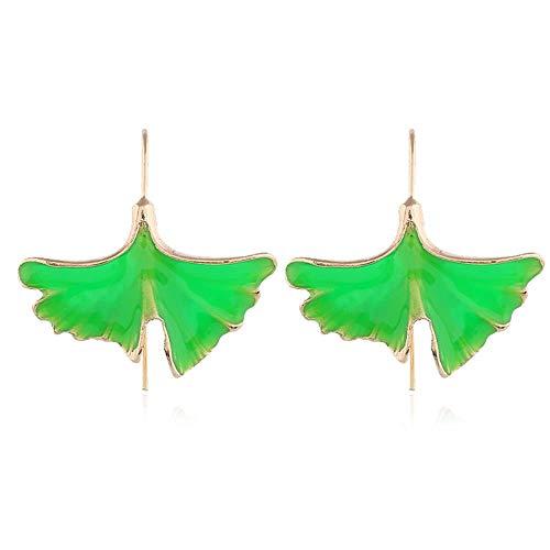 Smilelady Damen Schmuck Tropfen ginkgo Leaf Drop Ohrringe Valentinstag Geschenk für Frauen Green