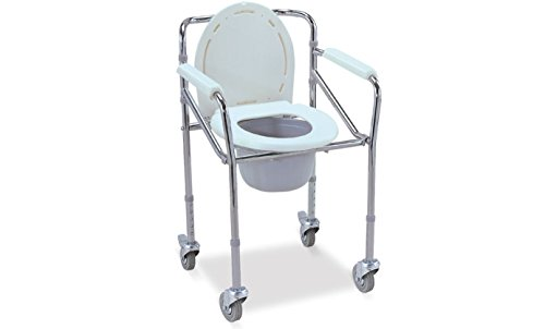 FS Imported Commode Chair with Wheel  available at amazon for Rs.3300