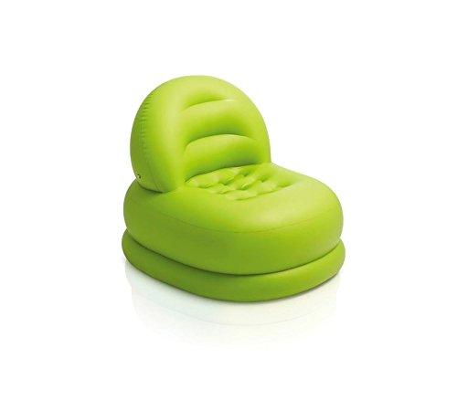 INTEX 68592Sillón Relax Hinchable Mode Color Verde con Respaldo de Apoyo. mws