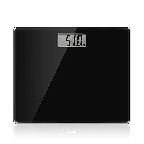 RTC Elektronische Waagen USB-Ladewaage Menschlicher Körper Präzise Gewichtsskalen Gewichtsskala Verlieren (Farbe : Schwarz)