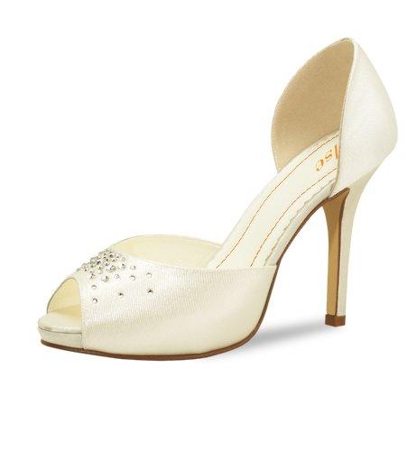 Elsa Coloured Shoes Brautschuh Pina Colada Satin, Gr. 36 - ivory - Sonderpreis