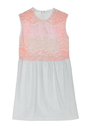 Cherry Paris–Promo Damen Tunika Kleid Kelly Farbverlauf in Floral Lace Gerades Bein Rosa - Rosé