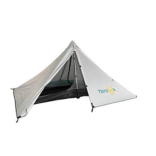Tentock 3 Stagioni Tenda a Piramide All'aperto 1 Persona Tenda da Campeggio Ultraleggera Impermeabile per Trekking Alpinismo Escursionismo(Grigio)