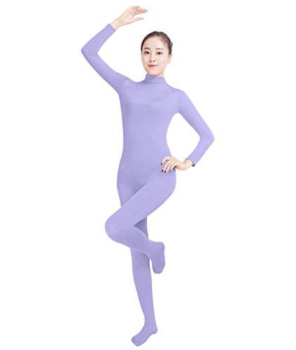 NiSeng Erwachsener und Kind Ganzkörperanzug Anzug Kostüm Ganzkörperanzug Halloween Kostüme Helles Lila (Lila Unitard Kostüm)
