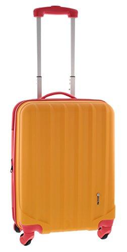 Pianeta / Ibiza Trolley valigia da viaggio bagaglio a mano valigia guscio rigido 100% ABS (arancione/rosso M (55cm))