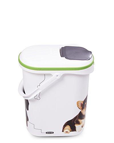 Curver Futtercontainer Futteraufbewahrung Hunde Größe S - weiß / grün
