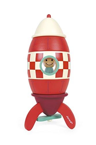 Janod Cohete magnético de Madera 5 Piezas, Medium (25 cm) (J05214)