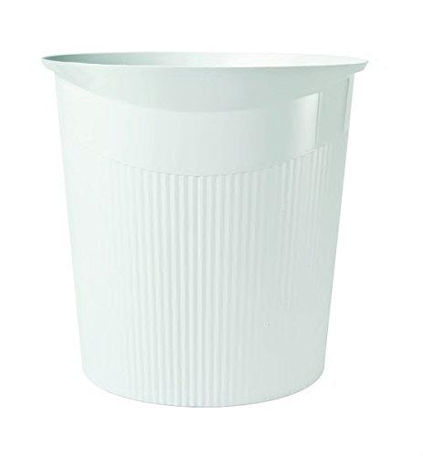 Papierkorb HAN LOOP, 13 Liter, modernes Design, rund, weiß